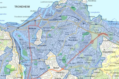 fjernvarme trondheim kart Utbygging   statkraft varme fjernvarme trondheim kart